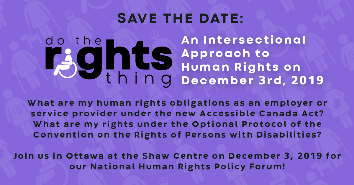 DO THE RIGHTS THING: National Human Rights Policy Forum